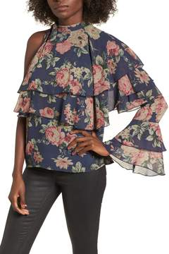 WAYF Ruffle One-Shoulder Top