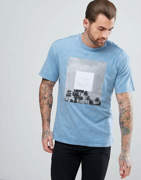 New Look T-Shirt With Los Angeles Print In Light Blue