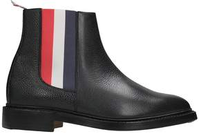 Thom Browne Black Chelsea Leather Boots