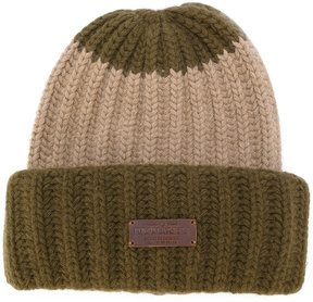 DSQUARED2 ribbed beanie hat