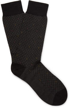 Pantherella Midford Patterned Escorial Wool-Blend Socks