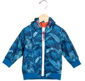 Little Marc Jacobs Boys' Leaf Print Hooded Jacket