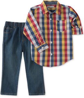 Kids Headquarters 2-Pc. Plaid Shirt & Jeans Set, Baby Boys (0-24 months)