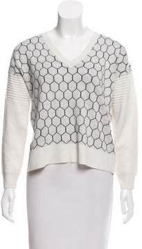 Mason Jacquard V-Neckline Sweater