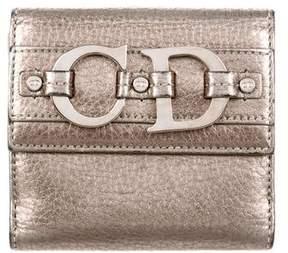Christian Dior Metallic Leather Wallet