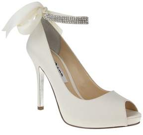 Nina Karen Open Toe Pump With Crystal Ankle Strap.