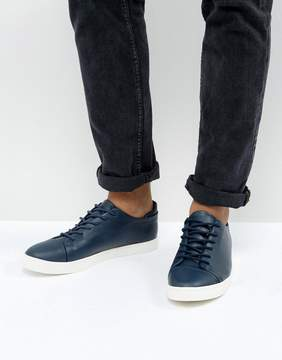 Asos DESIGN Vegan Sneakers In Navy With Toe Cap