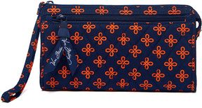 Vera Bradley Navy & Orange Mini Concerto Front-Zip Wristlet - NAVY - STYLE