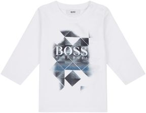 HUGO BOSS Geometric Logo Print T-Shirt