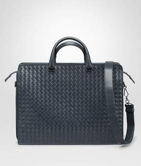 Bottega Veneta Denim Intrecciato Briefcase