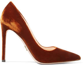 Prada Velvet Pumps - Brown