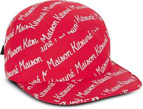 MAISON KITSUNÉ 5P Red Cotton Canvas Baseball Cap