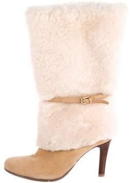 Lauren Ralph Lauren Suede Shearling-Trimmed Boots