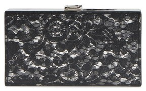 Nordstrom Transparent Lace Box Clutch - Black