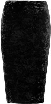 Dorothy Perkins Black Crushed Velvet Pencil Skirt