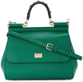 Dolce & Gabbana Sicily handbag with handle embroidery - GREEN - STYLE