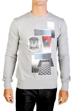 Christian Dior Men's Pharoah Graphic Lightweight Cotton Crewneck Sweatshirt Grey