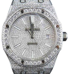 Audemars Piguet Royal Oak 15400ST.OO.1220ST.02 Stainless Steel 18.5 Ct Diamond 41.9mm Watch