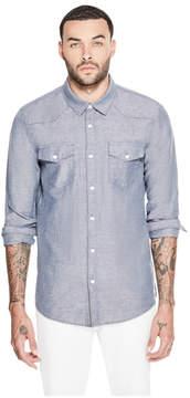 GUESS Slim Fit Western Chambray Shirt