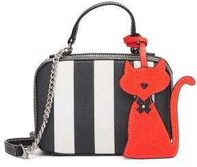 Milly Striped Saffiano Leather Mini Satchel
