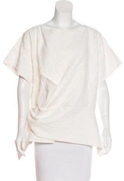 Celine Asymmetrical Crinkled Top
