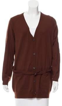 Dries Van Noten Belted Wool Cardigan
