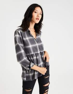 American Eagle Outfitters AE Ahh-Mazingly Soft Flannel Popover Shirt