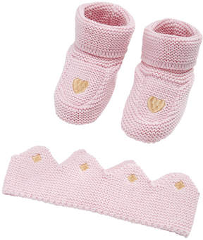 First Impressions 2-Pc. Cotton Princess Crown & Booties Set, Baby Girls, Created for Macy's