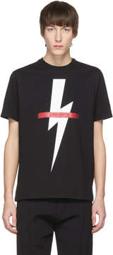 Neil Barrett Black Crossed Out Thunderbolt T-Shirt