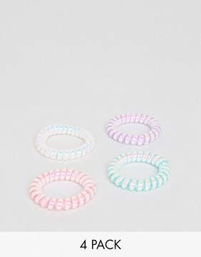 ASOS Pack of 4 Mermaid Jelly Hair Coils