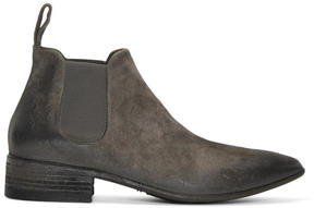 Marsèll Grey Suede Cuneo Chelsea Boots