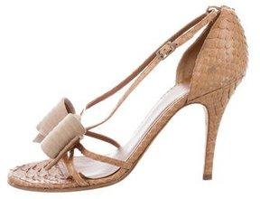 John Galliano Python Bow Sandals