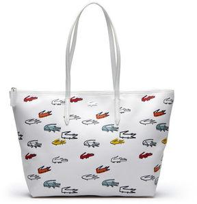 Lacoste Women's Concept Croc Print Large Zip Tote Bag