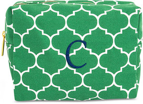Cathy's Concepts Personalized Green Moroccan Lattice Cosmetic Bag