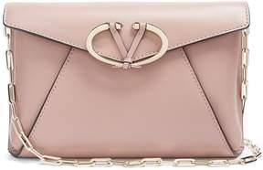 VALENTINO V Rivet leather clutch bag