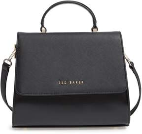 Ted Baker Hilaryy Crosshatch Faux Leather Top Handle Satchel