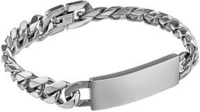 Lynx Stainless Steel Curb Chain ID Bracelet - Men