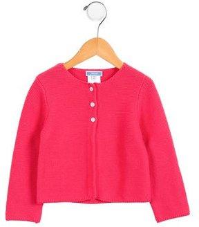 Jacadi Girls' Button-Up Cardigan
