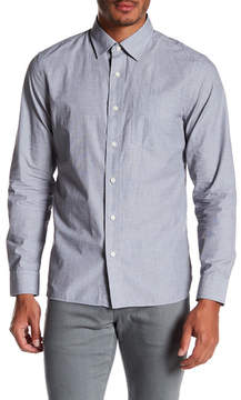 Jack Spade End On End Trim Fit Spread Collar Shirt