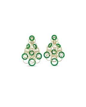 Buccellati Hawaii Jade Circle Earrings in 18K Gold