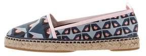 Fendi Printed Round-Toe Espadrilles