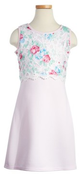 Blush by Us Angels Girl's Floral Popover Sheath Dress