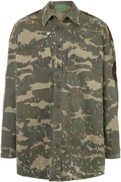 Amen camouflage print jacket
