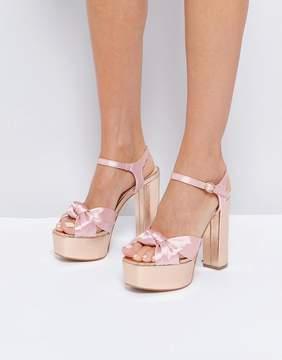Glamorous Knot Mega Platform Heeled Sandals