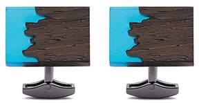 Tateossian Fusion ebony wood cufflinks