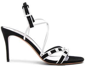 Valentino Free Rockstud Ankle Tie Sandals