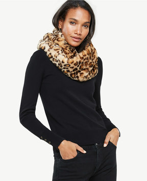 Ann Taylor Cheetah Faux Fur Snood