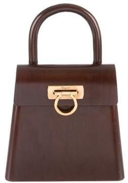 Salvatore Ferragamo Wooden Kelly Bag