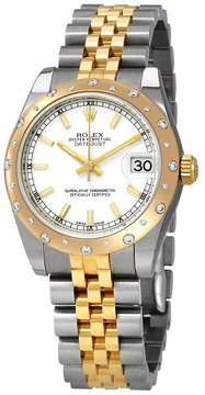 Rolex Datejust White Dial Automatic Ladies Steel and 18ct Yellow Gold Jubilee Watch