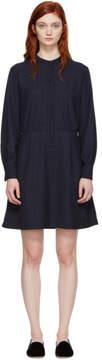 A.P.C. Navy Audrey Belted Dress